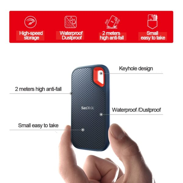 SanDisk Type-c Portable SSD 1TB 500GB 550M External Hard Drive SSD USB 3.1 HD SSD Hard Drive 250GB Solid State Disk for Laptop